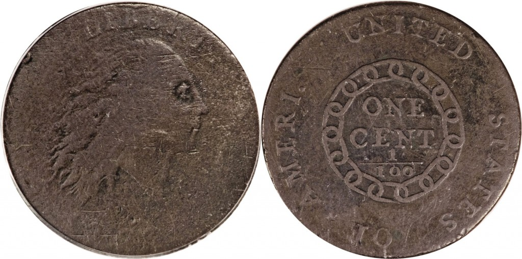 1793 Flowing Hair Value Chain Good (G4)