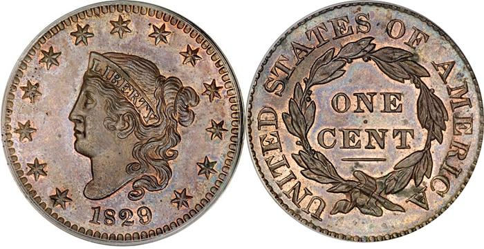 1829 Matron Head Large Cent