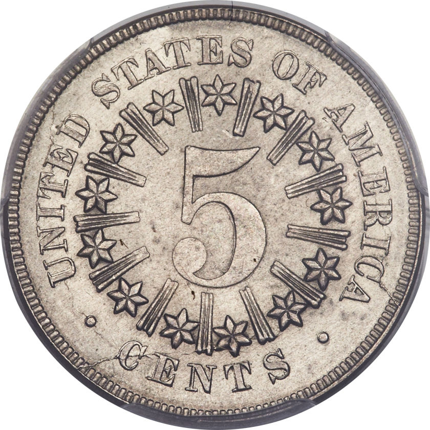 Shield Nickel Value with rays
