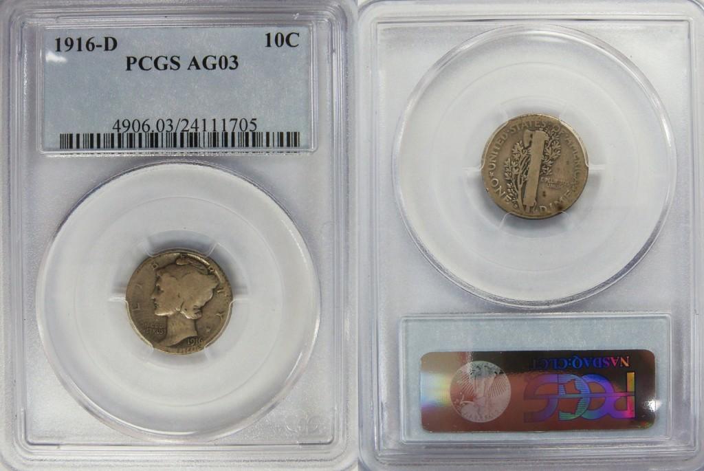Mercury Dime Value 1916-45 - Civil War Token Coin Values