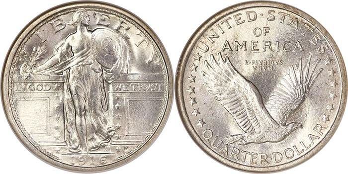 Standing Liberty Quarter Value Type One