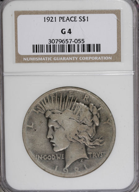 1921 Peace Dollar Value G4