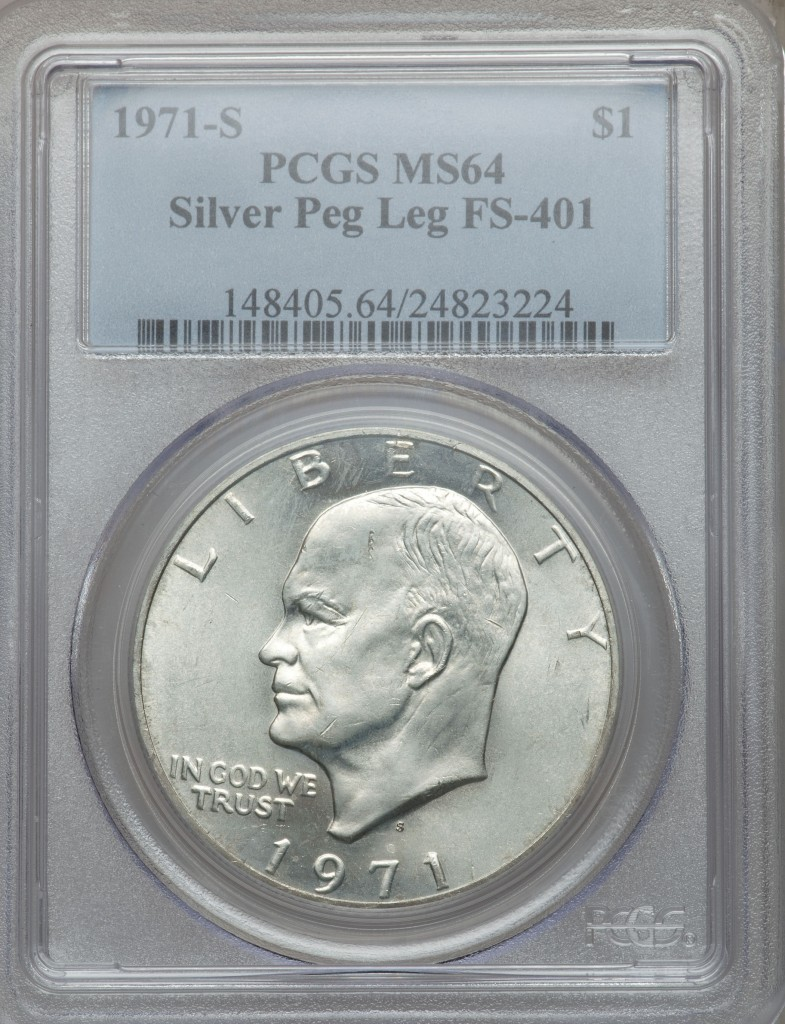 1971-S Peg Leg Eisenhower Dollar Value