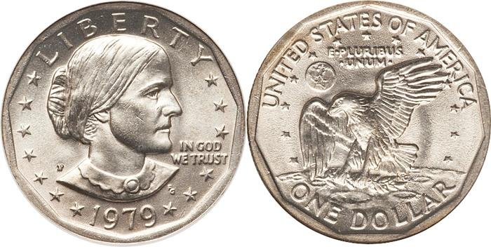1979 Wide Rim Susan B Anthony Dollar Value