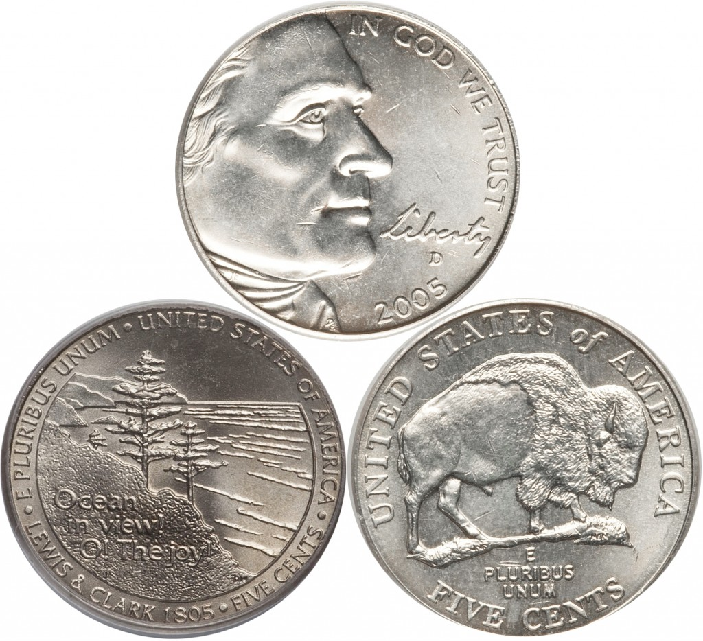Jefferson Nickel value fro Bison and Ocean View reverse