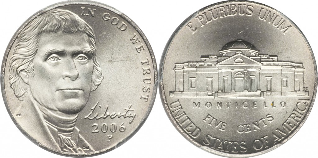 Jefferson Nickel value 2006