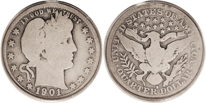 Barber Quarter value