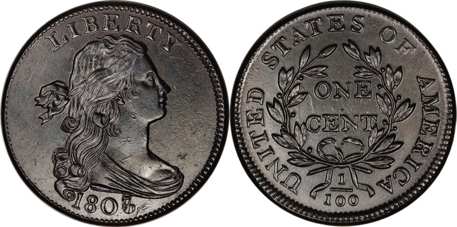Draped Bust Large Cent value