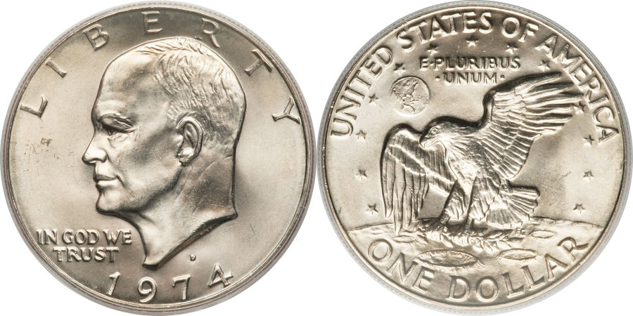 Eisenhower Dollar Value Coin Help