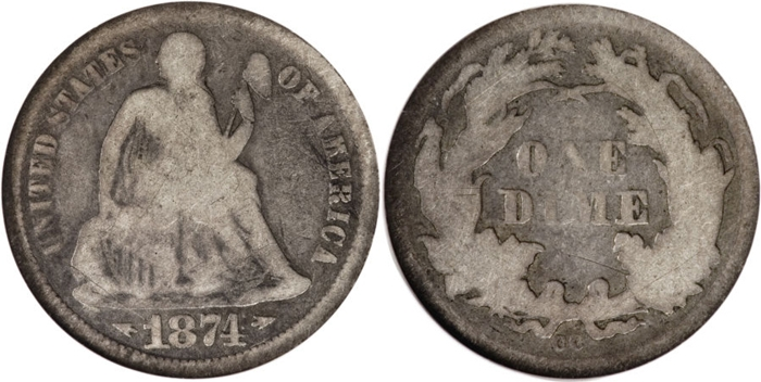 G4 Seated Dime Value