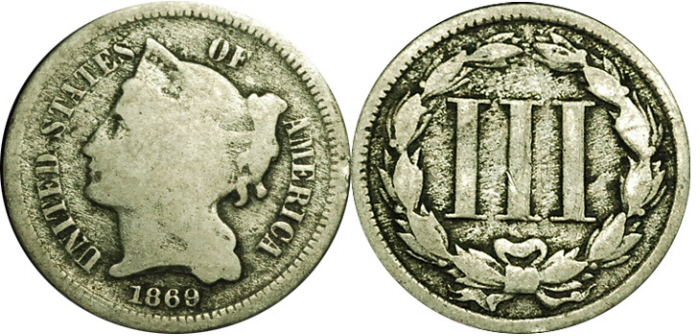 Three Cent Nickel Value G4