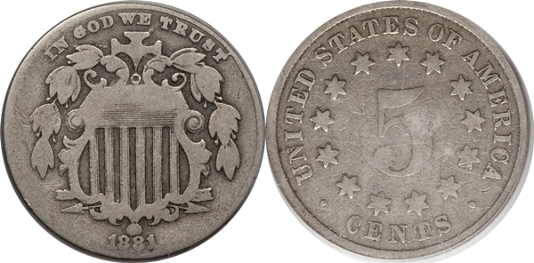 Shield Nickel Value G4