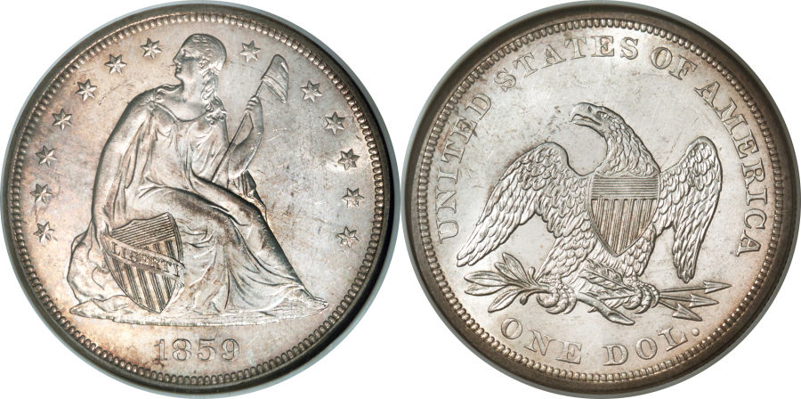 Seated Liberty Dollar Value