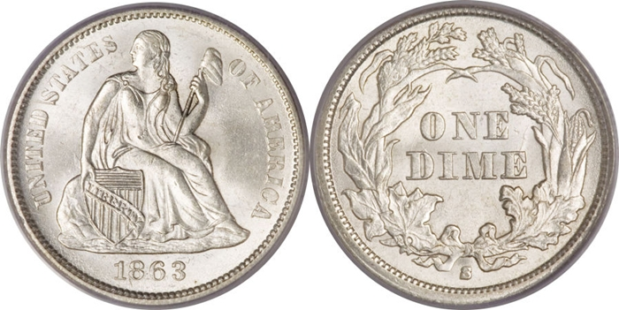 Seated Dime Value Mint State