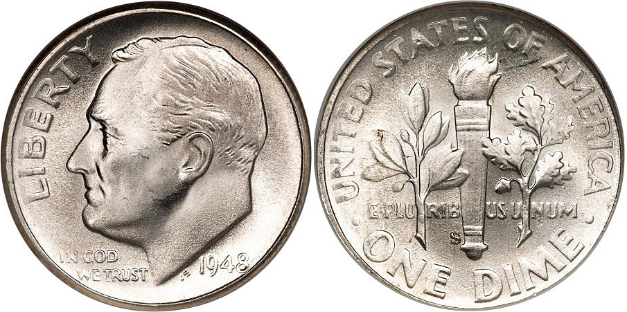 Roosevelt Silver Dime Value 1946-64