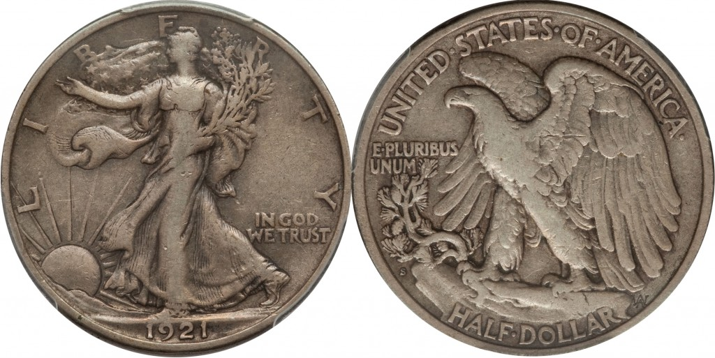Walking Liberty Half Dollar value VF30