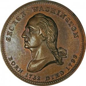 George, Martha Washington Patriotic Civil War Tokens