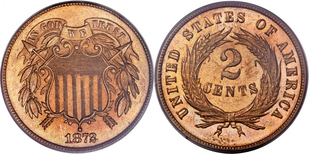 1872 shield two cent value