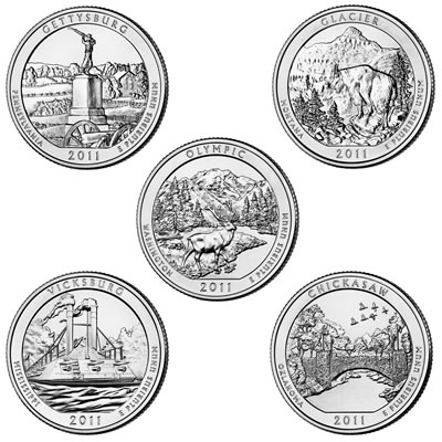 2011 America The Beautiful Quarters Value