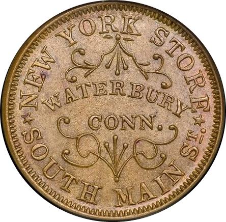 Waterbury, Connecticut - Civil War Token Coin Values
